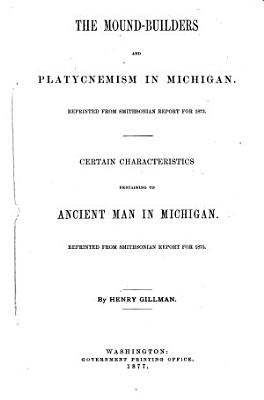 The Mound builders and Platycnemism in Michigan PDF