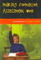 Making Formative Assessment Work  Effective Practice In The Primary Classroom PDF