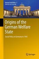 Origins of the German Welfare State PDF