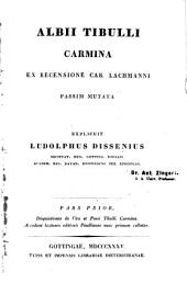 Albii Tibulli Carmina: Volume 1