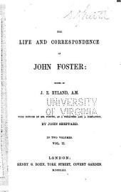The life and correspondence of John Foster: Volume 2