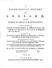 A Biographical History of England, from Egbert the Great to the Revolution (etc.)