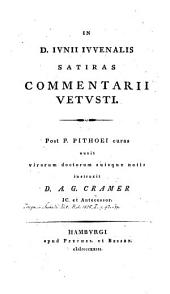 In Junii Juvenalis satiras commentarii vetusti