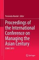 Proceedings of the International Conference on Managing the Asian Century PDF