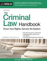 The Criminal Law Handbook PDF