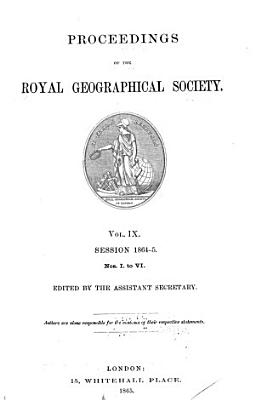 Proceedings of the Royal Geographical Society PDF
