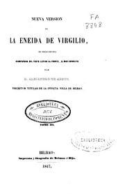 Nueva versión de la Eneida de Virgilio: en verso español acompañada del texto latino al frente, el mas correcto, Volume 3