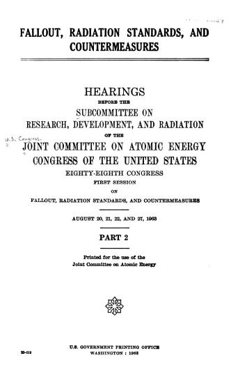 Fallout  Radiation Standards  and Countermeasures PDF