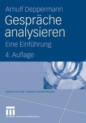 Gespräche analysieren: Eine Einführung, Ausgabe 4