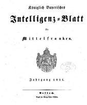Königlich Bayerisches Intelligenzblatt für Mittelfranken: 1851