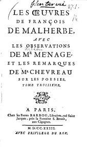 Les oeuvres ¬de ¬François ¬de ¬Malherbe: Volume3