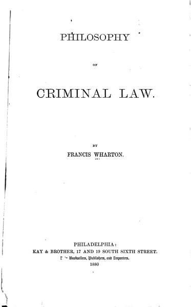 Download Philosophy of Criminal Law Book