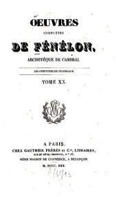 Oeuvres complètes: ¬Les aventures de Télémaque, Volume20