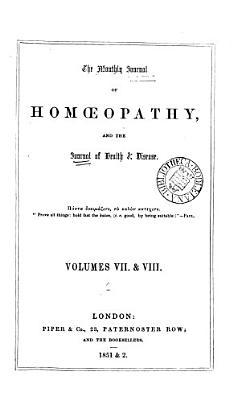 The Monthly Journal of Homoeopathy and the Journal of Health and Disease PDF