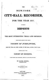 The New-York City-hall Recorder: Volume 2
