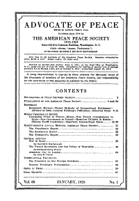 Advocate of Peace PDF
