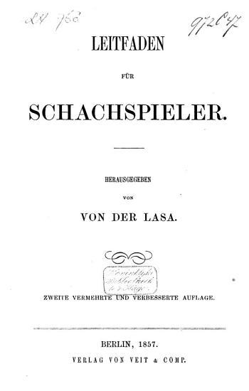Leitfaden f  r Schachspieler PDF