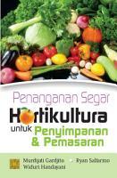 Penanganan Segar Hortikultura Untuk Penyimpanan dan Pemasaran PDF