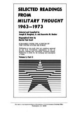 Selected Readings from Military Thought  1963 1973 PDF