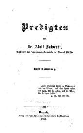 Predigten: erste Sammlung