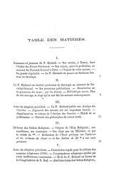 Vie et oeuvres du R.P. Charles Louis Richard, de l'Ordre des frères-prêcheurs