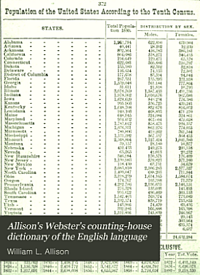 Allison s Webster s Counting house Dictionary of the English Language PDF