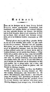 Franz Joseph Weinzierl's ... nachgelassene Schriften religiösen Inhaltes: Predigten ; Bd. 1. Predigten auf die Sonn- und Fesstage des katholischen Kirchenjahres ; Jg. 1, Teil 1,Band 1