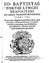 Jo. Bapt. Portae de aeris Transmutationibus libri IV