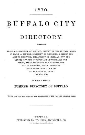 The Buffalo Directory PDF