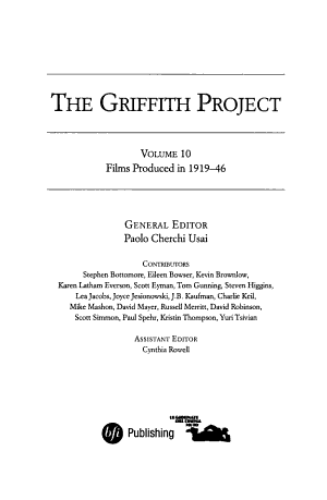The Griffith Project, Volume 10