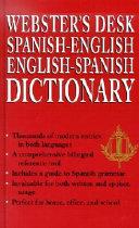 Webster s Desk Spanish English  English Spanish Dictionary