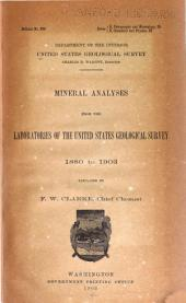 Mineral Analyses from the Laboratories of the United States Geological Survey, 1880 to 1903