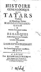 Histoire genéalogique des Tatars