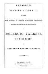Catalogue of the Officers and Graduates of Yale University ...