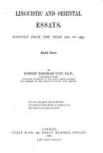 Linguistic and Oriental Essays PDF