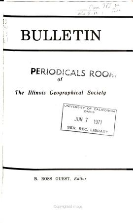 Bulletin of the Illinois Geographical Society PDF