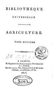 Bibliothèque universelle des sciences, belles-lettres et arts: Volume8
