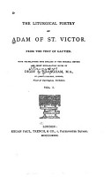 The Liturgical Poetry of Adam of St  Victor PDF