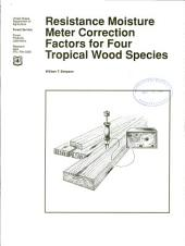Resistance moisture meter correction factors for four tropical wood species