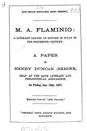 M.A. Flaminio: a paper