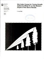 Site index curves for young-growth California white fir on the western slope of the Sierra Nevada