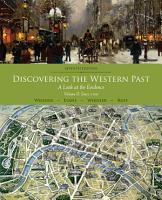 Discovering the Western Past  Volume II  Since 1500 PDF