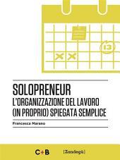Solopreneur: L'organizzazione del lavoro (in proprio) spiegata semplice