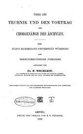 Über die Technik und den Vortrag der Chorgesänge des Äschylus