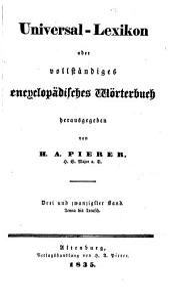Universal-Lexikon; oder, Vollständiges encyclopädisches Wörterbuch: Band 25