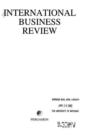 International business review PDF