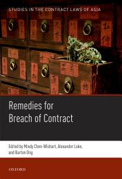 Studies in the Contract Laws of Asia
