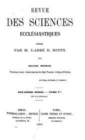 Revue des sciences ecclésiastiques: Volume11
