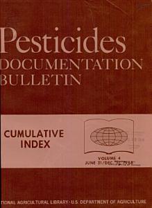 Pesticides Documentation Bulletin PDF