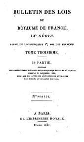 Bulletin des lois de la République Française: Volume 1; Volume 3